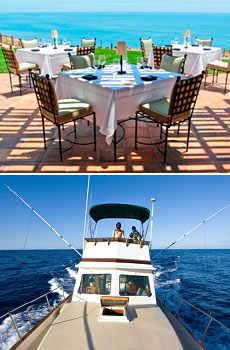Top: mar'sel at Terranea<br>Bottom: Deep sea fishing