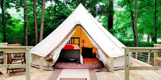 Travelzoo Deal: $159 -- Poconos: Riverfront Glamping Experience w/S'mores