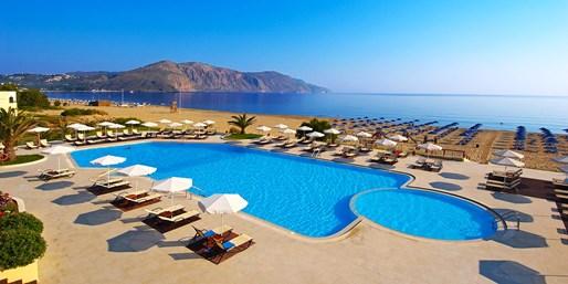 555 € -- Kreta: Luxuswoche am Privatstrand mit HP, -245 €