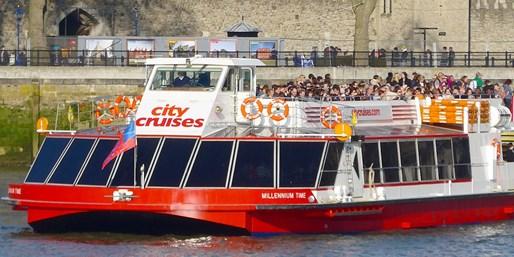 ¥99 -- 5折 伦敦泰晤士河游船3日套票 随上随下 畅游伦敦景点 英文语音导览