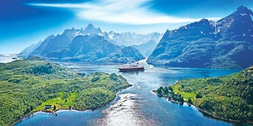 ab 1399 € -- Norwegen Kreuzfahrt: Hurtigruten & Bergen