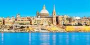 ¥93,555 -- 神秘のマルタ島6日間 5つ星リゾート指定 地中海へいざ