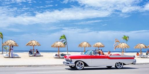 2599 € -- Kuba-Erlebnisreise mit Oldtimertour, Strand & Flug