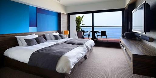 ¥20,833 -- 海×緑×富士山の景勝 都心から1時間の高級ホテル1泊朝食+客室UP