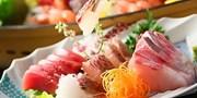 ¥9,800 -- 熱海1泊2食 地魚堪能の70種創作バイキング&特典付 1,000円引で得