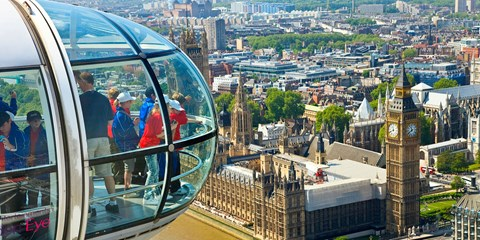 54€ -- Londres: entrada London Eye, Madame Tussauds y más