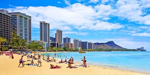¥74,800 -- ハワイ5日間 ビーチ徒歩圏内 プール付ホテル泊 トロリー乗り放題