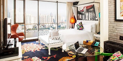 $205 -- Stylish Shanghai Waterfront Break w/Drinks, Save 37%