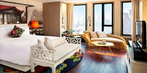 ¥1,688 -- 全网首推 会员专享!上海外滩英迪格酒店1晚江景房 含双早+海鲜火锅等
