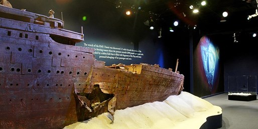 $21 -- 'Titanic: The Artifact Exhibition' at Luxor
