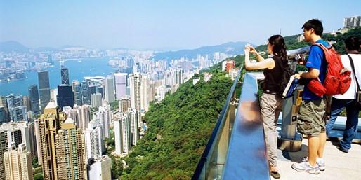 ¥275 -- 4.7折!香港城市魅力一日游 太平山顶+超视觉艺术馆+维港游船+机场接送