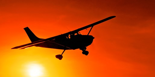 $137 -- Private Sunset Flight & Dinner for 2, Reg. $276