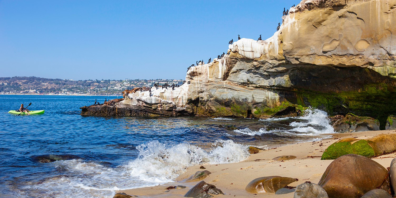 $25 -- La Jolla Sea Caves: Guided Kayak Tour, 55% Off