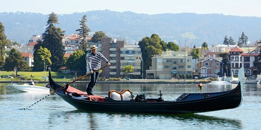 $55 -- Private Gondola Ride for 2 w/Wine on Lake Merritt