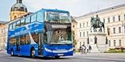 11 € -- Hop-on Hop-off Stadtrundfahrt durch München, -50%