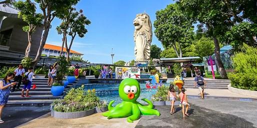 ¥6,399起 -- 左手都市繁华&右手海岛浪漫!新加坡+民丹岛6日自由行 2晚圣淘沙名胜世界+3晚Club Med