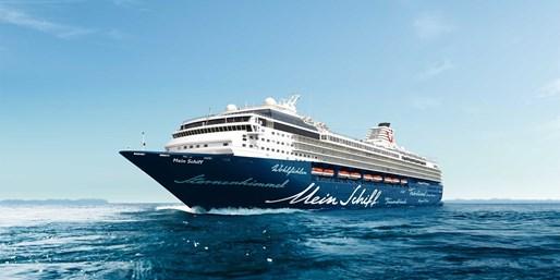 1195 € -- Mein Schiff: Antalya bis Mallorca & Flug, -200 €