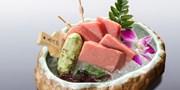 ¥558 -- 吴亦凡都爱的人气日料 米亭味自慢料理  享稀有黑鲔鱼中腹 加拿大牡丹虾
