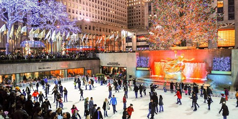 $49 -- NYC: Ice Skating for 2 at Iconic Rockefeller Center