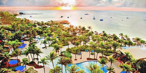 $199 -- Aruba 4-Star Oceanfront Hilton, 50% Off