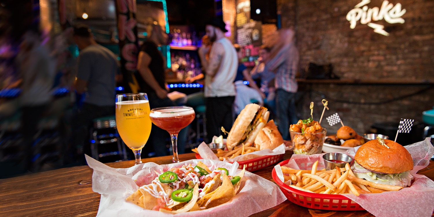 $45 -- Pinks in East Village: Dinner & Drinks for 2, 45% Off