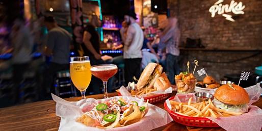 $45 -- Pinks in East Village: Dinner & Drinks for 2, 45% Off