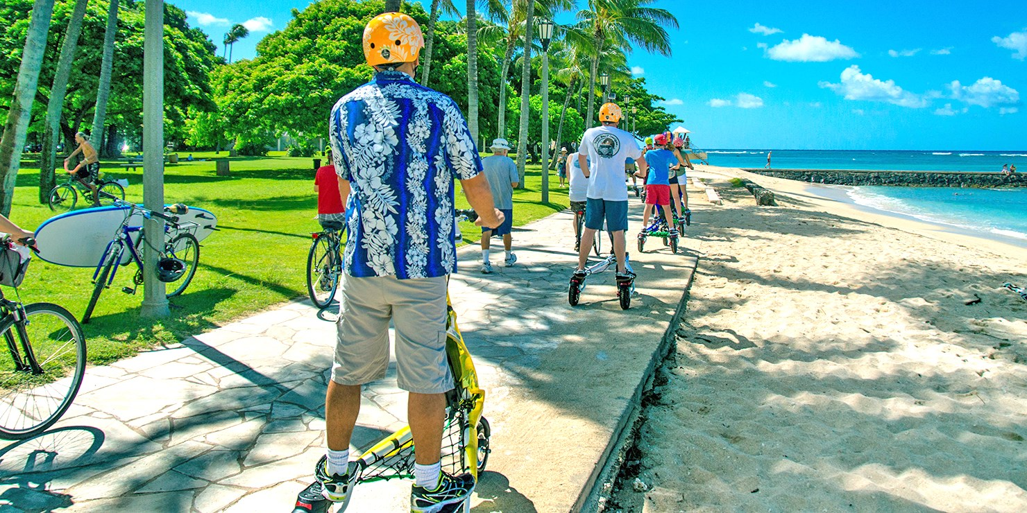$49 -- Honolulu: Guided Motorized Trikke Tour, Reg. $100