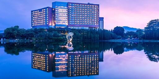 ¥958 -- 城市绿洲亲子游!广州汇华希尔顿逸林酒店 1 晚 升湖景房 享家庭早晚自助餐+儿童礼遇 节假通用