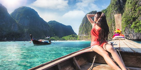 $45 -- Phuket Phi Phi Islands Day Tour w/Lunch & Transfers