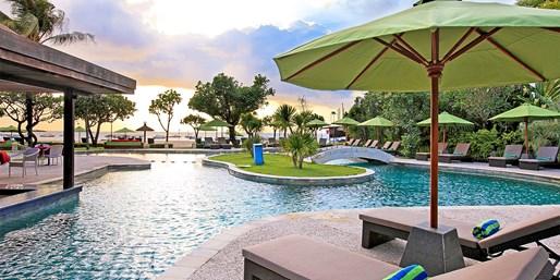 ¥1,288起 -- 巴厘岛努萨杜亚雷迪森酒店3晚 池景房/泳池别墅可选 含接机+按摩等