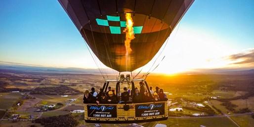 $199pp -- Hot-Air Balloon Flight in Hunter Valley w/Brekkie