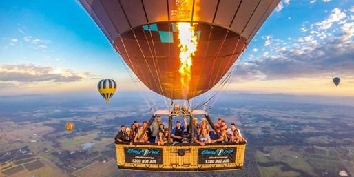 $199pp -- Hunter Valley: Hot-Air Balloon Ride w/Breakfast