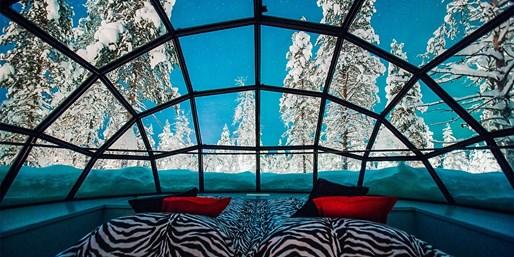 ¥2,654起 -- 芬兰圣诞村北极圈7/8日 全球限量升级极光玻璃屋+木屋别墅等