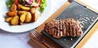 45 € -- Steak vom heißen Stein für 2 in cooler Neueröffnung
