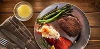 £46 -- Steak & Lobster with Bubbly for 2 in Glasgow, 50% Off
