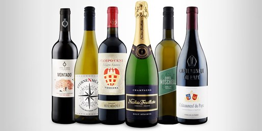 ab 6 € -- Wein-Highlights des Jahres und Champagner, -43%