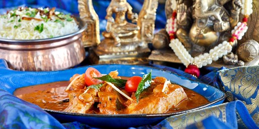 $79 -- Chef-Hatted Indian Banquet for 2 w/Drinks, 45% Off