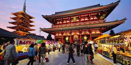 Weeklong Tokyo Vacation incl. Air, From $1,659