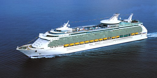 The Navigator of the Seas is one of the world's largest vessels, complete with a rock-climbing wall, ice-skating rink and an ice cream parlor.