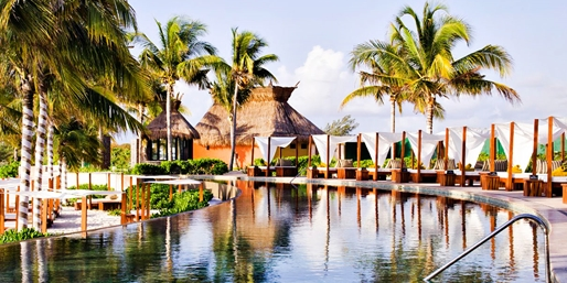 4.5-Star Secrets: Cancun Retreat w/Meals & Air, From $769