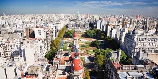 Buenos Aires y su Palacio del Congreso al fondo