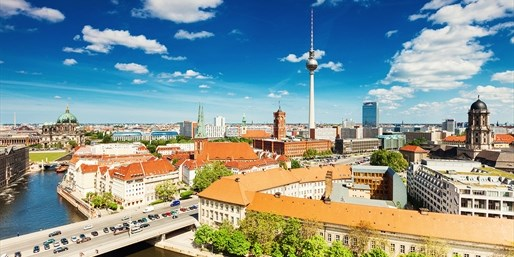 Vista de Berlín-Mitte y Alexander Platz