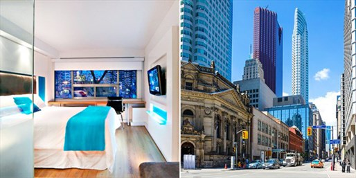 $75 -- Downtown Toronto Hotel w/Parking, incl. Weekends