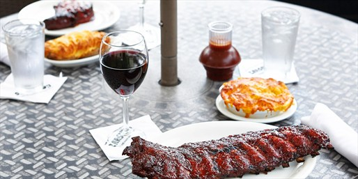 $69 -- Carson's: BBQ Dinner for 2 w/Drinks, Save 30%