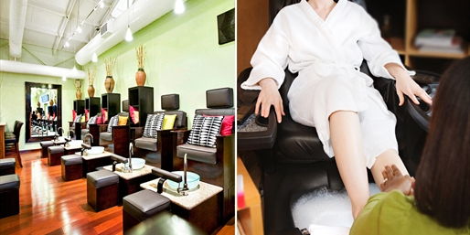 $19 -- Pedicure w/Foot Mask at 'Sleek' Spa, Reg. $37