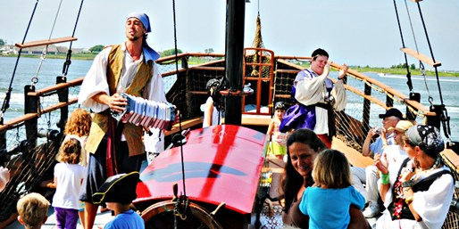 $23 -- Cape May: Family Pirate Ship Cruise for 2 thru Summer