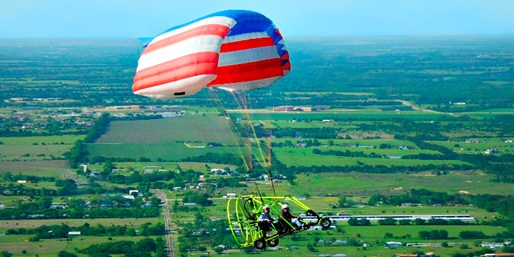 $99 -- Powered Parachute Flight over Lake Lavon, Reg. $199