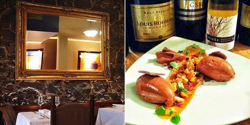 ¥545 -- 5.5折 墨尔本CBD时尚餐厅五道品尝式双人晚餐 含气泡酒 位置优越