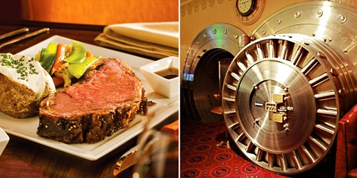 $69 -- The Broker: Romantic Dinner for 2 w/Wine, 50% Off