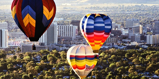 Sunrise Hot Air Balloon Ride over Vegas w/Bubbly, Save 30%